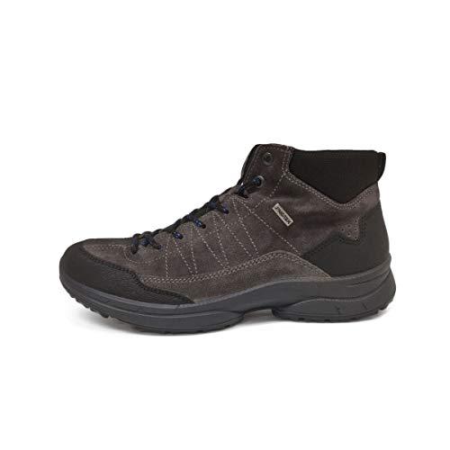 Camoscio Sneaker 011 Uomo 78051 A Collo Scarpe Imac 203749 Alto Grigio HPUqYwxWf4