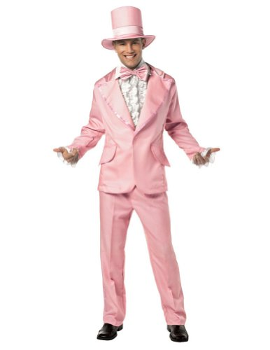 70s Funky Tuxedo Pastel Pink Mens Adult Costume (Funky Tuxedo Adult Men Costume)