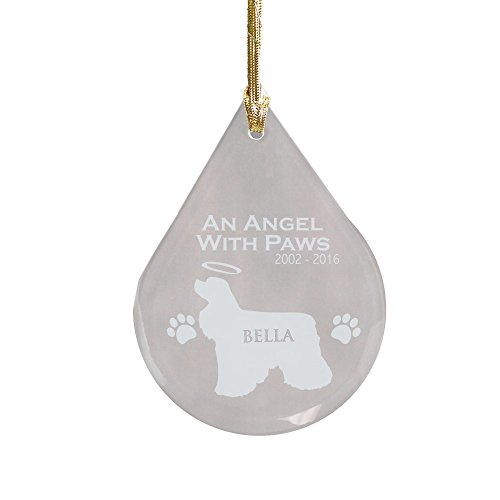 GiftsForYouNow Cocker Spaniel Dog Personalized Memorial Ornament, Glass