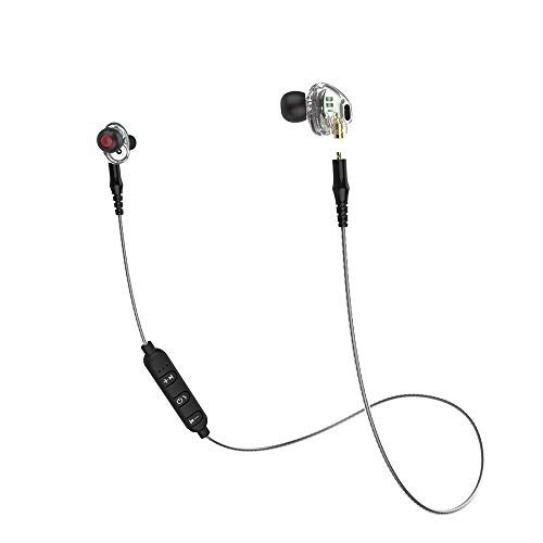mingxiao Earphone 3.5mm Headphone Sweatproof Detachable Dual Dynamic Driver HiFi Stereo Sport Headset in Ear Earphones Earbud Headset Wired Sports Dual Electronics Consumer Headphones
