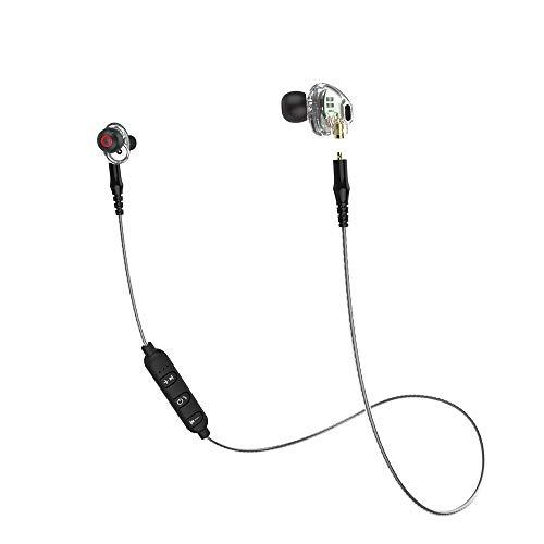 mingxiao Earphone 3.5mm Headphone Sweatproof Detachable Dual Dynamic Driver HiFi Stereo Sport Headset in Ear Earphones Earbud Headset Wired - Dual Consumer Electronics Headphones
