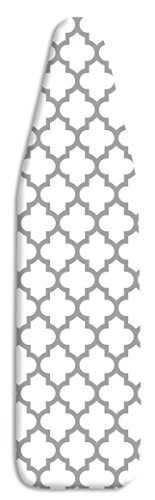 Whitmor Deluxe Ironing Board Cover and Pad - Medallion Gray (Cover 54 18 X Ironing Board)