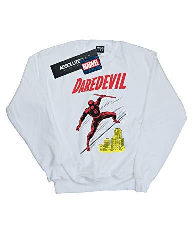 Rooftop Blanc shirt Universe Marvel Homme Daredevil Sweat pFtgFq