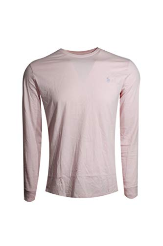 (Polo Ralph Lauren Mens Long Sleeve Pony Logo T-Shirt (Pink Blush/Lavender Pony, Large))