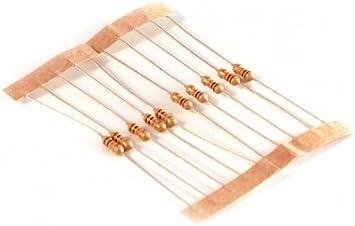 Carbono resistor 0.25 w 1//4w 220 Ohmios 220r X 100