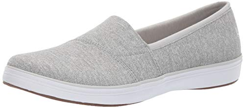 Grasshoppers Women's Siesta Stretch Chambray Sneaker, Light Grey, 8