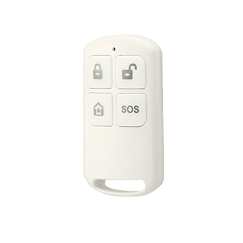 DIGOO DG-HOSA 433MHz Wireless Remote Controller,For HOSA Alarm System,Window Door Sensor,PIR Detector,External Alert Siren Set,and Other Accessories,White