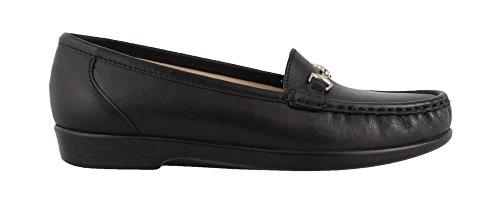SAS Women's, Metro Slip On Flats Black 7.5 WW - Sas Comfort Shoes