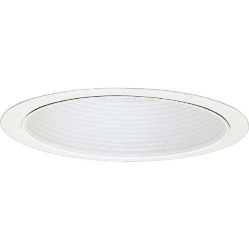 Progress Lighting P8114-28 Baffle Trim UL/CUL Listed for Damp Locations, White ()