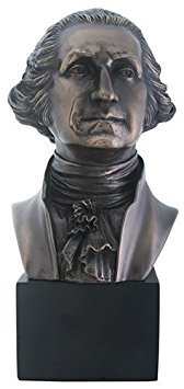 Summit President George Washington Bust Statue Sculpture, Bronze Finish