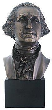 Summit President George Washington Bust Statue Sculpture, Bronze ()
