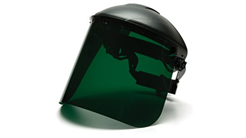 Pyramex S1035 Polythylene Dark Green Tinted Face