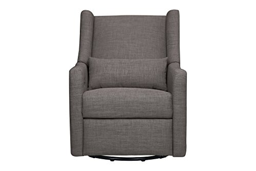 Babyletto Kiwi Electronic Recliner and Swivel Glider with USB Port, Grey Tweed by babyletto (Image #6)