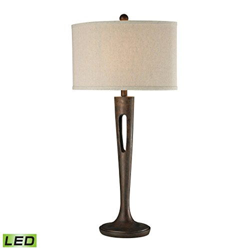 Manhattan Collection Martcliff LED Table Lamp in Burnished Bronze