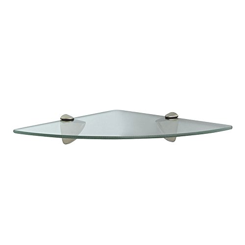 Knape & Vogt Vogt Kt-0134-1212Sn Decorative Corner Glass Shelf Kit L X 12 in W, 12 x 12