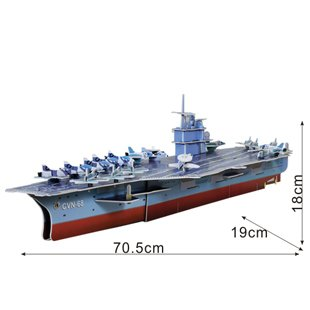 U.S.S. Nimitz Aircraft Carrier Usa Military Ship 3 D Model Kit [Toy]