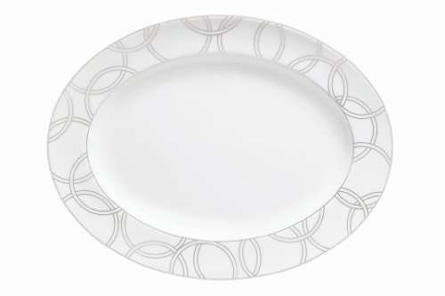 Waterford Halo Oval Platter, 15-1/4-Inch