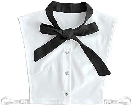 Fashion False Collar, blusa de gasa para mujer, cuello falso ...