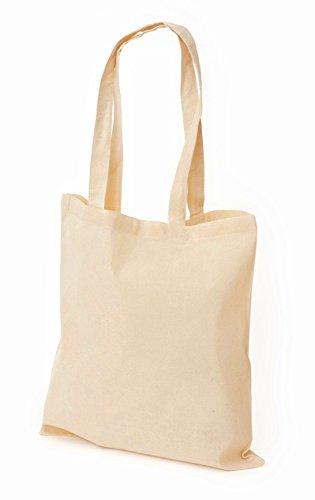 100% cotone naturale, promozionali-Borsa Shopper da spalla in tela