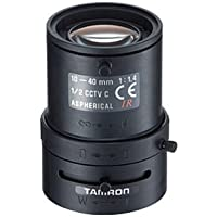Tamron 12VM1040ASIR 1/2 10-40mm F1.4 Manual Iris Vari-Focal C-Mount Lens, IR Corrected