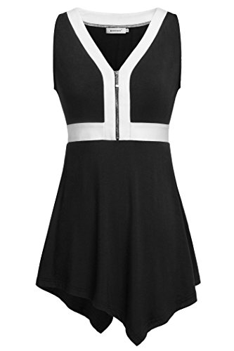 Kospoon Womens Color Block Sleeveless