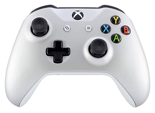 (Soft Silver Xbox One S/X Rapid Fire Custom Modded Controller 40 Mods for All Major Shooter Games Soft Touch Finish (with 3.5 Jack))