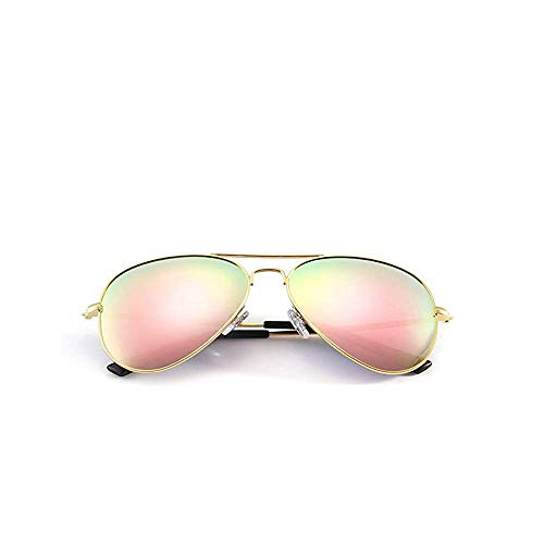KATCOCO Small Polarized Aviator Sunglasses for Kids and Youth Age 5-18 Kid's Aviator UV400 Protection Sunglasses (Pink)