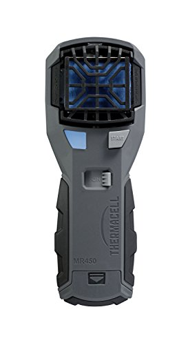 (Thermacell MR450 Armored Portable Mosquito Repeller; Features ZoneCheck, Quiet Ignition and Rubber Grip; Provides 15-Foot Zone of Mosquito Repellent; Runs on Long-Lasting Refills; No Spray, No Scent)