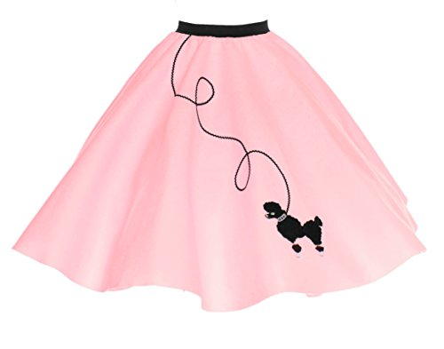 Hip Hop Costumes Cheap (Hip Hop 50s Shop Adult Poodle Skirt Light Pink XS/S)