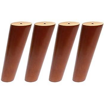 Amazon.com: Patas redondas de madera maciza para sofá, patas ...