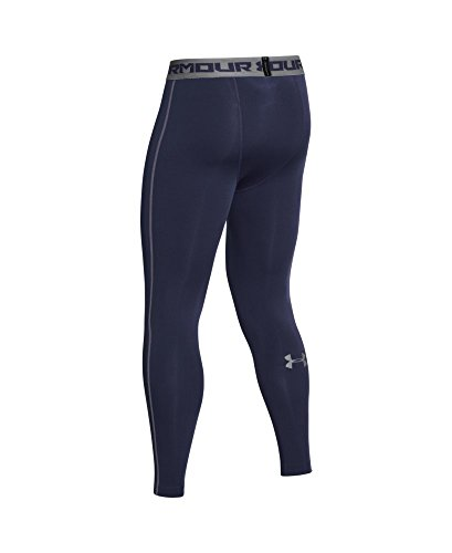 Under Armour Men's HeatGear Armour Compression Leggings, Midnight Navy /Steel, X-Large by Under Armour (Image #3)