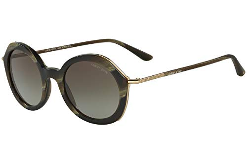 Giorgio Armani  AR 8075 - 5496/8E Sunglasses MATTE STRIPED GREEN ()