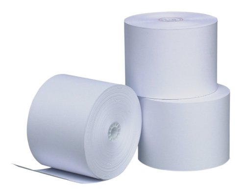 PM Company Perfection One Ply Blended Bond Paper Rolls, 3 X 165 Feet, White, 50 Rolls Per Carton (07927)