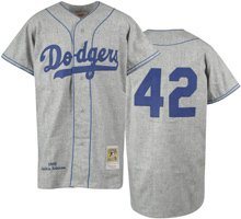 Amazon.com   Brooklyn Dodgers Jackie Robinson  42 Throwback Jersey ... a43b5e92f55