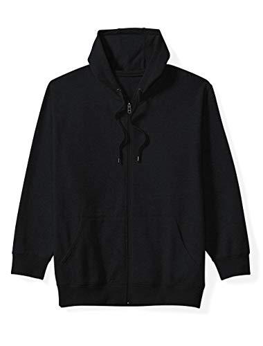 big tall zip hooded fleece