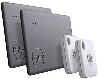 Tile Mate + Slim Combo (2020) Lot de 4 localisateurs d'article Bluetooth...