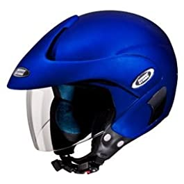 Studds Marshall Open Face Helmet (Matt Blue, L)