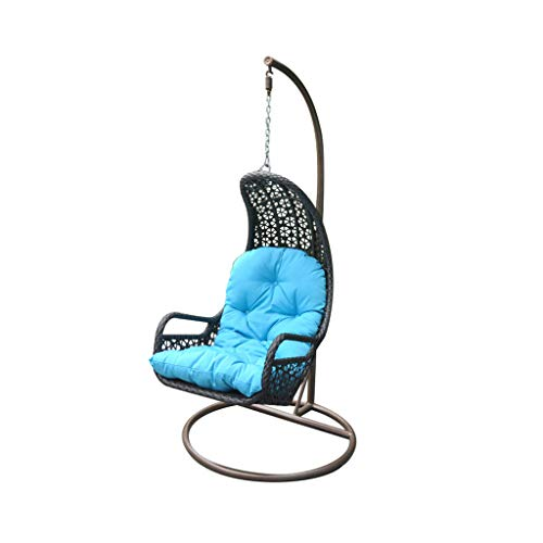 HYYTY-Y Outdoor Swing Chair, Single Rattan Waterproof Seat Cushion Garden Rocking Chair 612-YY (Color : Black)