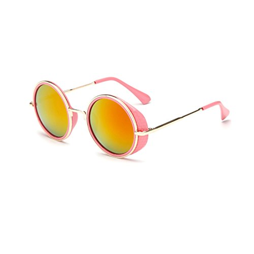 Unisex Round Goggles Sunglasses ,Plastic Metal Frame Rimmed UV400 Lens - Nz Prescription Sunglasses