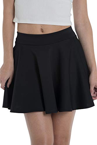Marc Olivier Women's Mini Skater Skirt – a Pleated, Short, Black A Line Ladies Skirt Also Available in Red, Cream and…