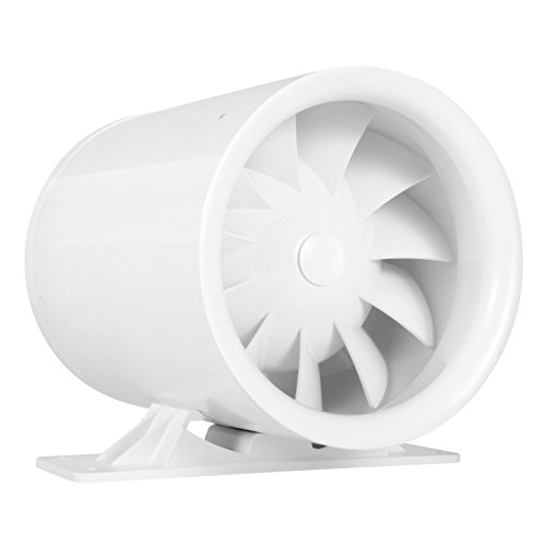6'' Silent Inline Duct Fan, 26W, 188 CFM, Quiet Mixed-Flow Energy Efficient Blower for Air Circulation in Ducting, Vents, Grow Tents by TerraBloom