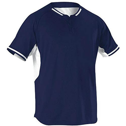 Alleson Baseball Jersey - Alleson Athletic Teen-Boys Youth Baseball Jersey, Navy/White, Small