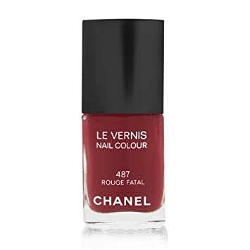 Amazon.com : Chanel Le Vernis Nail Color Rouge Fatal 487 : Nail ...
