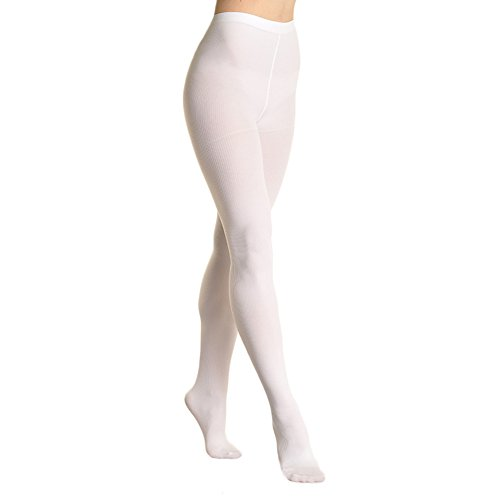 Angelina Lady's Thermal Tights with Super Warm Brushed Interior, White,One Size -