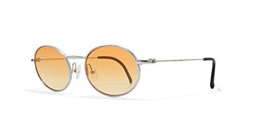 Burberrys B8829 YB7 Silver Flat Lens Vintage Sunglasses Round For Mens and - Sunglasses Vintage Burberry