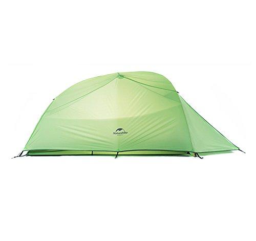 Zelt fur 3 Personen Tent Ultraleicht Wasserdichten Zelt 4 season Double-layer Tent(210T checked fabric, Green)