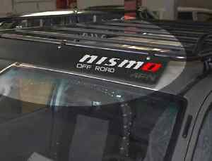 - Jis Decals Generic NISMO Off Road ROOF Basket Decal (White with RED O) 12 INCH X 3 INCH
