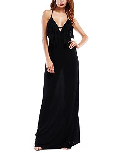 18c3210b70cd Nuda Collo Spalla Con Abbigliamento Da Vestito Cerimonia Vintage Dresses  Lunghi V Schiena Mare Lungo Eleganti ...