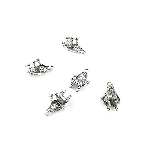 10 x Antique Silver Tone Jewelry Making Charms Findings Handmade Necklace Bracelet Bulk Lots Supplier Supply Crafting H0287 Sofa Chair