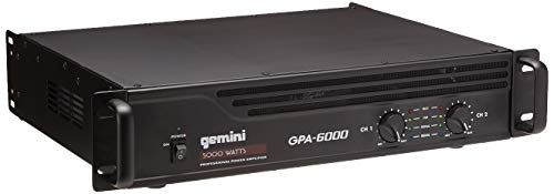 Gemini GPA-6000 5000W Professional DJ Power Amplifier